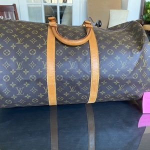 VINTAGE LV LOUIS VUITTON KEEPALL 55 BANDOLIER